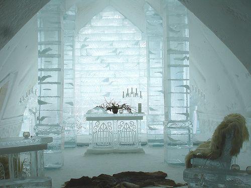 Ślub w lodowym hotelu